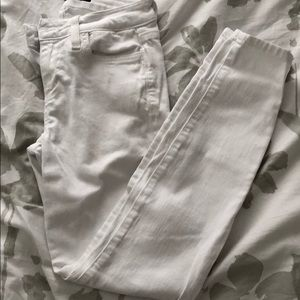 Joes white skinny ankle jeans